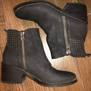 """Lucky Brand """"Kalie"""" Leather Studded Booties"""